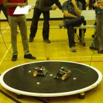 Two large Prairie Sumo bots square off